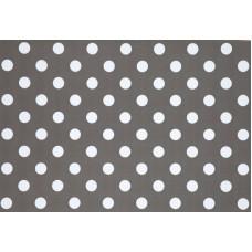 PVC Tafelzeil grijs met stip